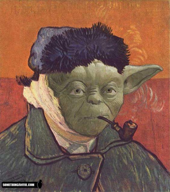 Yoda as Van Gogh, by somethingawful.com