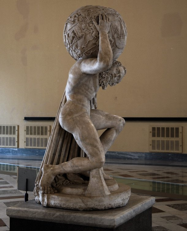 Farnese Atlas, Naples