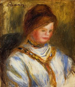 Pierre Auguste Renoir, Woman in a Blue Blouse, c. 1906, private collection