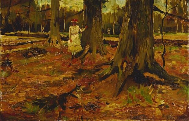 Vincent van Gogh, Girl in a wood, 1882, Kröller-Müller Museum