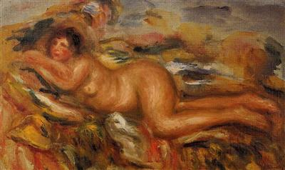 Pierre-Auguste Renoir, Nude On The Grass , 1915, private collection