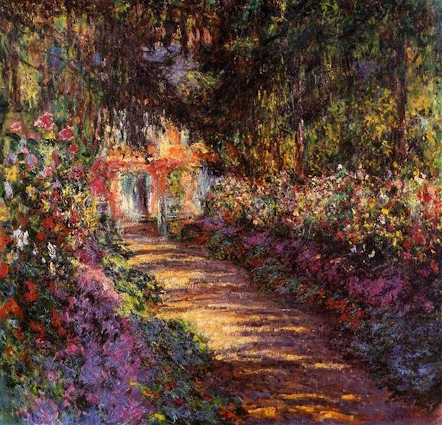 Claude Monet, Pathway In Monet's Garden At Giverny, 1901-1902