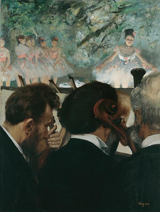Edgar Degas, Musicians At The Orchestra, 1872, Städelsches Kunstinstitut, Frankfurt