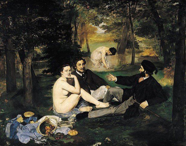 Scandalous Nudes Art Edouard Manet, Luncheon on the Grass, 1863, Musée d'Orsay