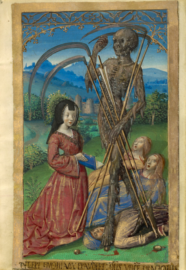 Master of the Chronique scandaleuse, Denise Poncher before a Vision of Death, about 1500, The J. Paul Getty Museum, Los Angeles