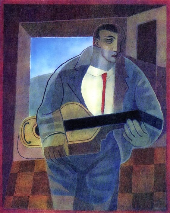 Juan Gris, The Guitar Player, private collection