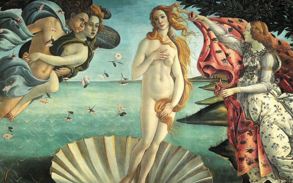 Sandro Botticelli, The Birth of Venus, 1484–1486, Uffizi Gallery bojack horseman art