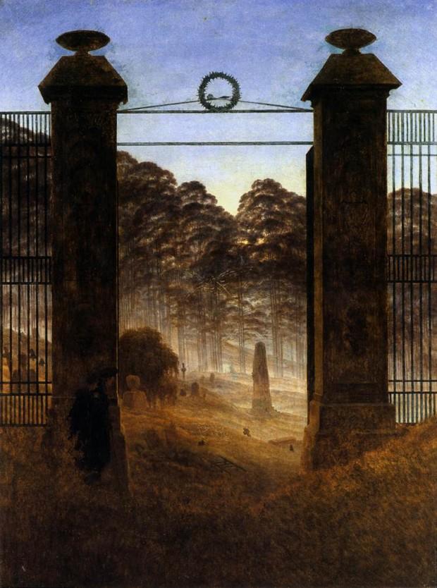 Caspar David Friedrich, The_Cemetery, 1825, Galerie Neue Meister, Dresden