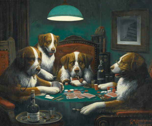 Art in BoJack Horseman Cassius Marcellus Coolidge, Dogs Playing Poker, 1894, private collection