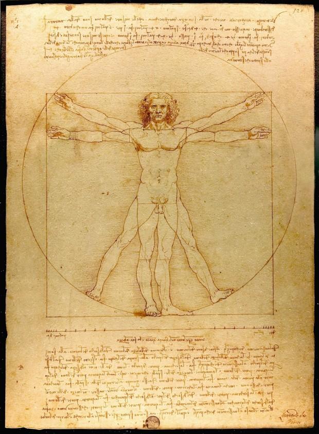 Leonardo da Vinci, Vitruvian Man, c. 1490, Gallerie dell'Accademia, Venice