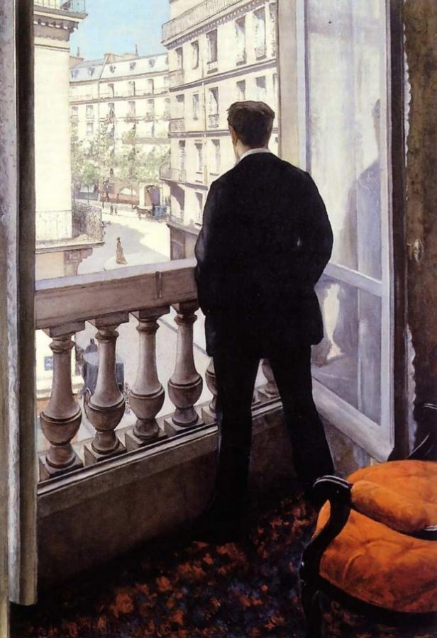 Gustave Caillebotte, Young Man at His Window, 1875, private collection