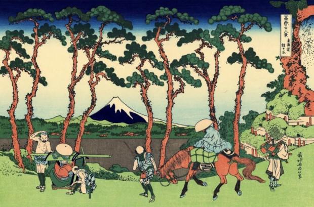 Katsushika Hokusai, Hodogaya on the Tōkaidō, c. 1830/33