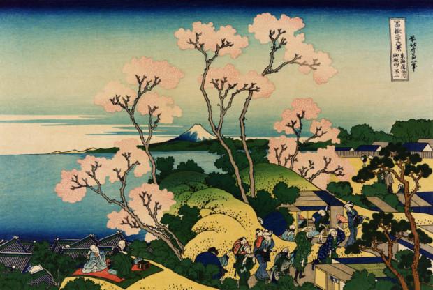 Katsushika Hokusai, Goten-yama_hill, Shinagawa on the Tōkaidō, ca. 1832
