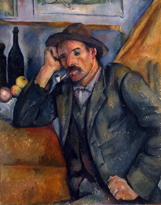 Paul Cézanne, Man Smoking a Pipe (Paulin Paulet), 1892, Hermitage Museum
