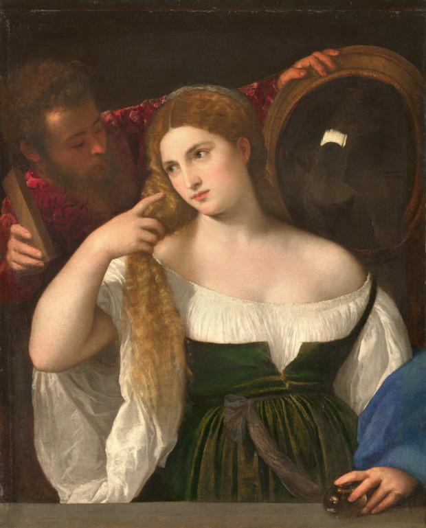 Titian, Woman at the Mirror, c. 1515, Musée du Louvre, Paris