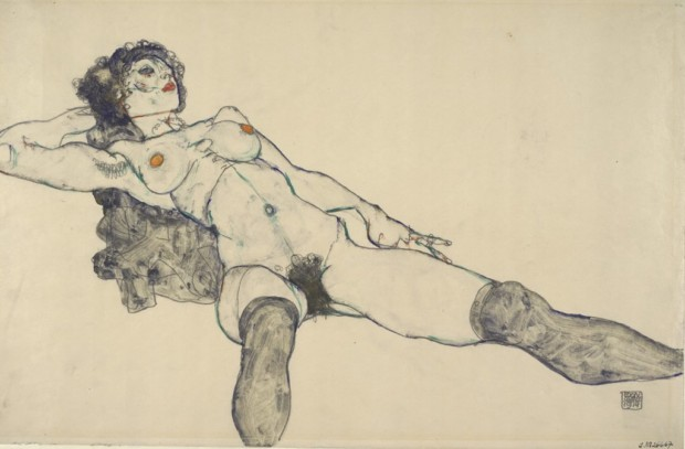 Reclining_Female_Nude_with_Legs_Spread_Apart_1914_Kallir_D._1484_Albertina