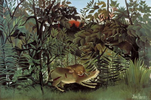 Henri Rousseau, The Hungry Lion Throws Itself on the Antelope, exhibited 1905, Fondation Beyeler, Basel,