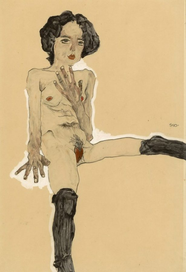 Seated_Female_Nude_with_Black_Stockings_1910