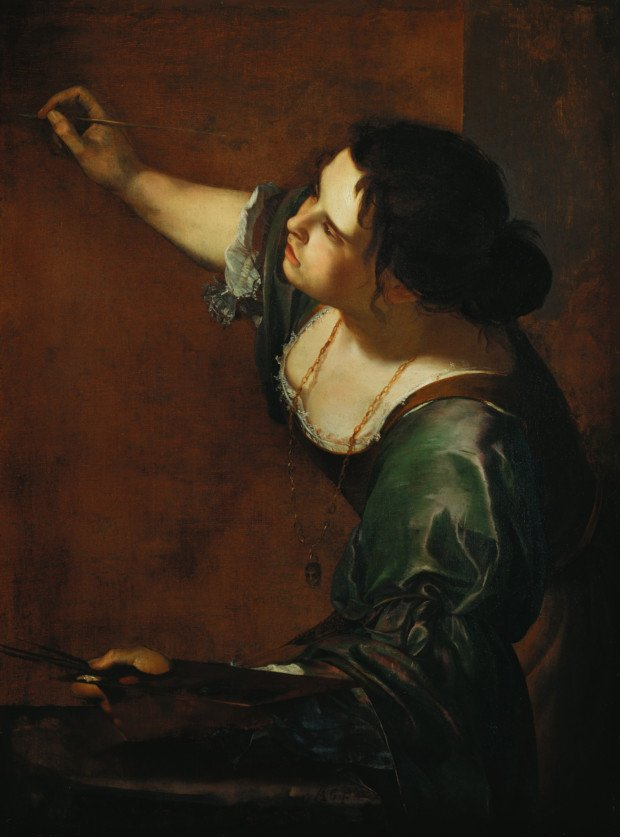 Artemisia Gentileschi, Self-Portrait as the Allegory of Painting, 1630s , Royal Collection, Windsor