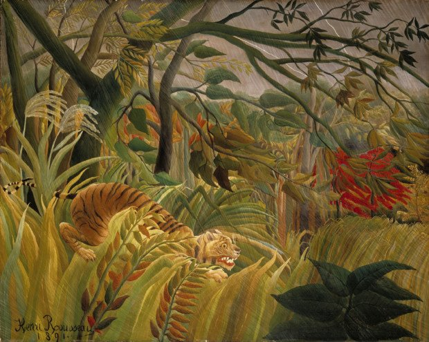 Henri Rousseau, Tiger in a Tropical Storm, 1891, National Gallery, London