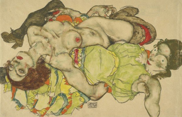 Two_Girls_Lying_Entwined_1915_Kallir_D._1743_Albertina