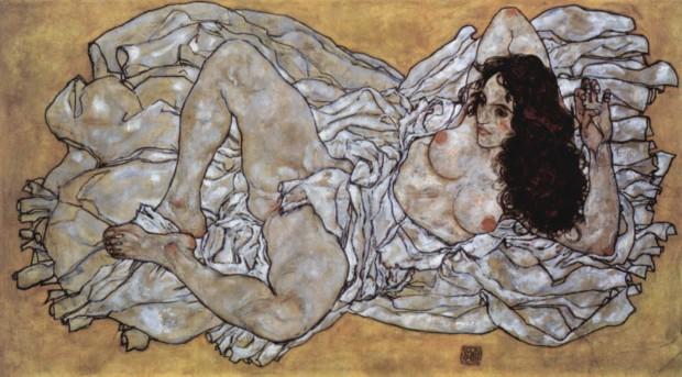 Egon Schiele, Lying Women, 1917, Leopold Museum
