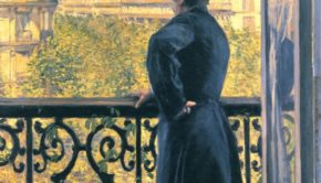 Gustave Caillebotte, Man on a Balcony, Boulevard Haussmann, 1880, private collection
