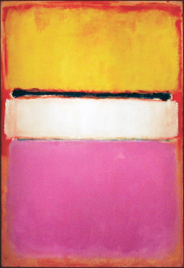Mark Rothko, White Center (Yellow, Pink and Lavender on Rose), 1950, private collection