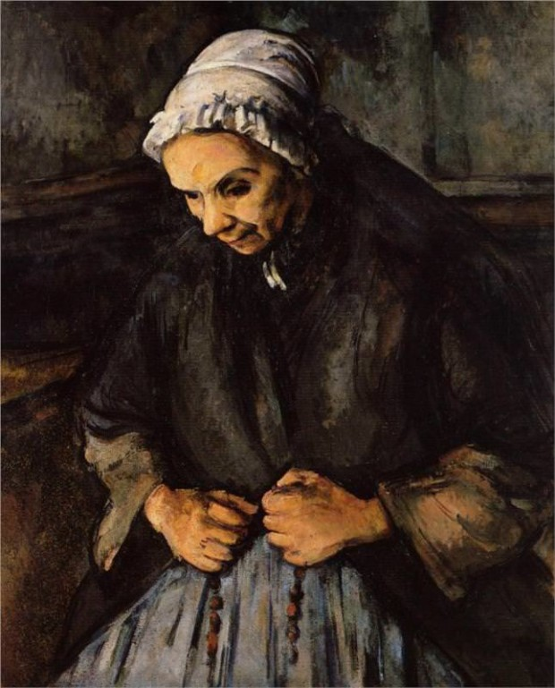 Paul Cézanne, Old Woman With a Rosary, 1895-96, National Gallery, London