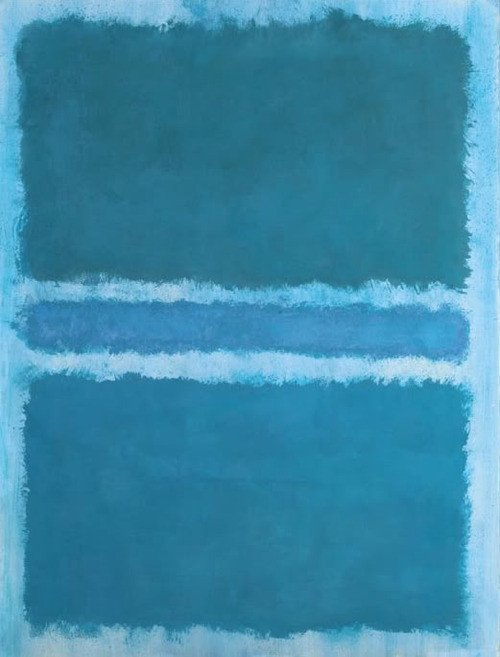 Mark Rothko, Untitled (Blue Divided by Blue), 1966, private collection