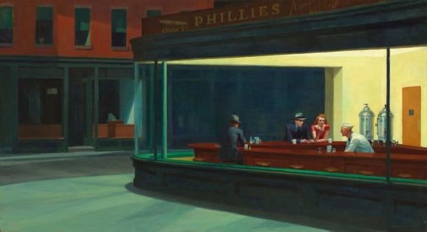 Edward Hopper, Nighthawks, 1942, The Art Institute of Chicago, Chicago, IL, USA.