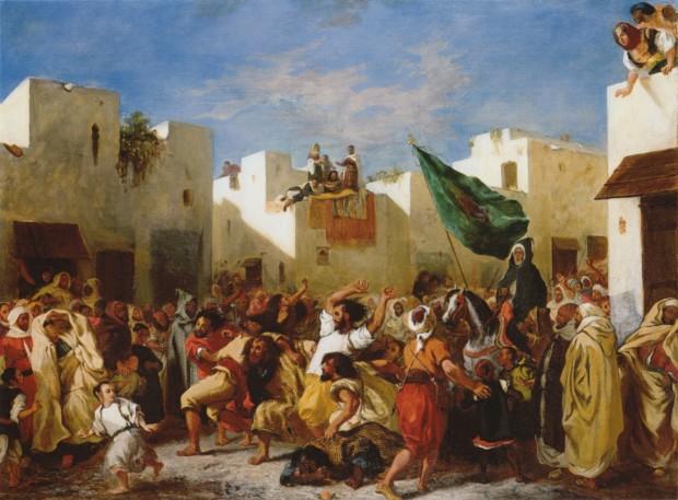 Eugene Delacroix, The Fanatics Of Tigers, 1837-38, Institute of Arts, Minneapolis
