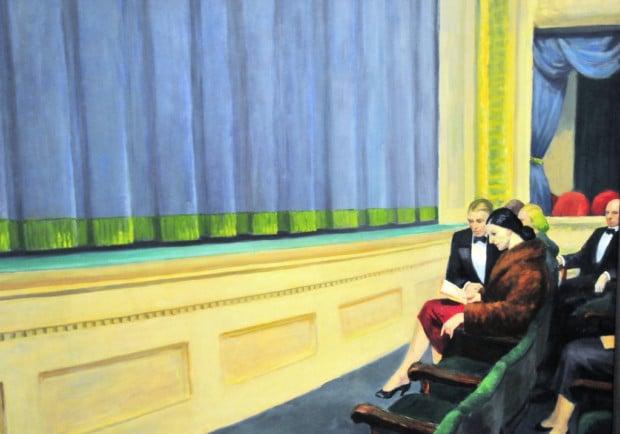 Edward Hopper, First Row Orchestra, 1951, Hirshhorn Modern Art Museum, Washington, DC, USA. Smithsonian.
