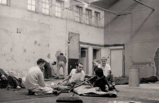 Preparations for the Freeze Exhibition, 6 August 1988 – 29 September 1988, Surrey Docks, London