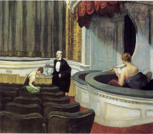 Theatre Hopper, Edward Hopper, Two on the Aisle, 1927, Toledo Museum of Art, New York, NY, USA.