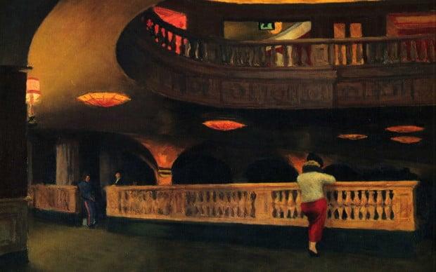 Theater Hopper, Edward Hopper, The Sheridan Theatre, 1937, Whitney Museum of American Art, New York, NY, USA. Artrenewal.