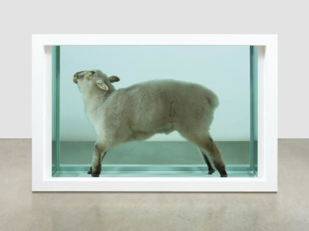 Away from the Flock 1994 Damien Hirst born 1965 ARTIST ROOMS Acquired jointly with the National Galleries of Scotland through The d'Offay Donation with assistance from the National Heritage Memorial Fund and the Art Fund 2008 https://www.tate.org.uk/art/work/AR00499