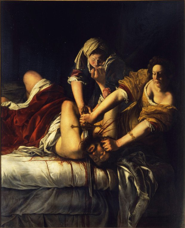 Artemisia Gentileschi, Judith Slaying Holofernes, c. 1614-20, National Museum of Capodimonte, Naples