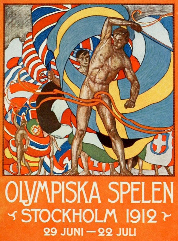 Olle Hjortzberg, Poster for the Stockholm 1912 Olympics.