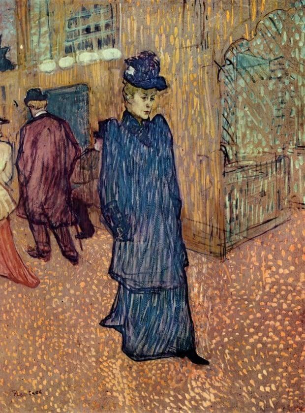 Jane Avril Leaving the Moulin Rouge Henri de Toulouse-Lautrec 1892