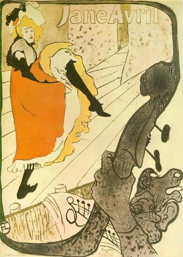 Henri de Toulouse-Lautrec, Jane Avril au Jardin de Paris, 1893, Museum of Modern Art, New York