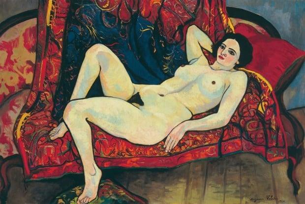 Suzanne Valadon, Nu au canapé rouge, 1920, Musée du Petit Palais Genève