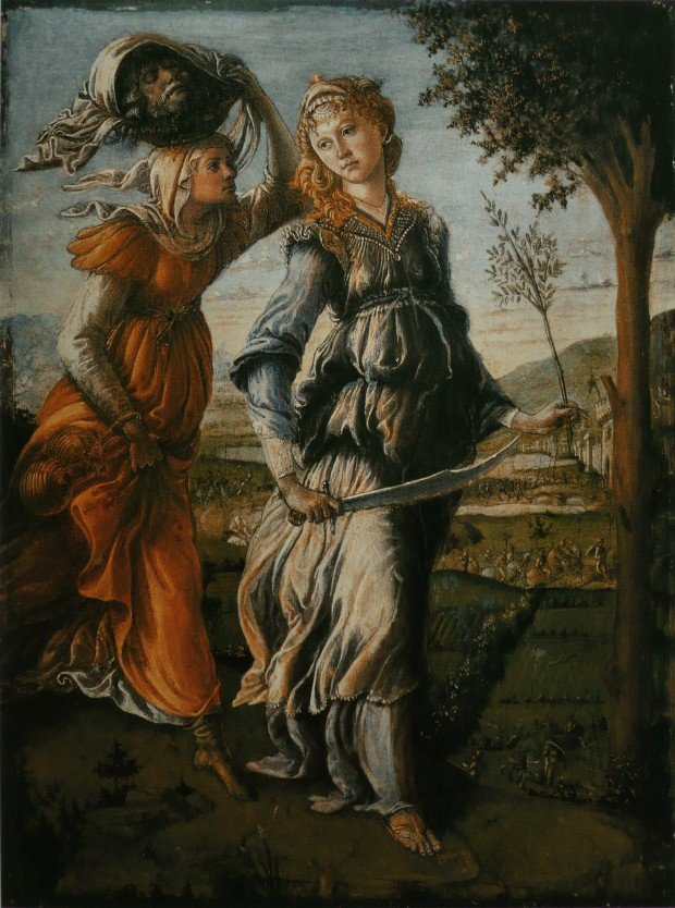 Sandro Botticelli, The Return of Judith to Bethulia, 1470-1472, Uffizi, Florence