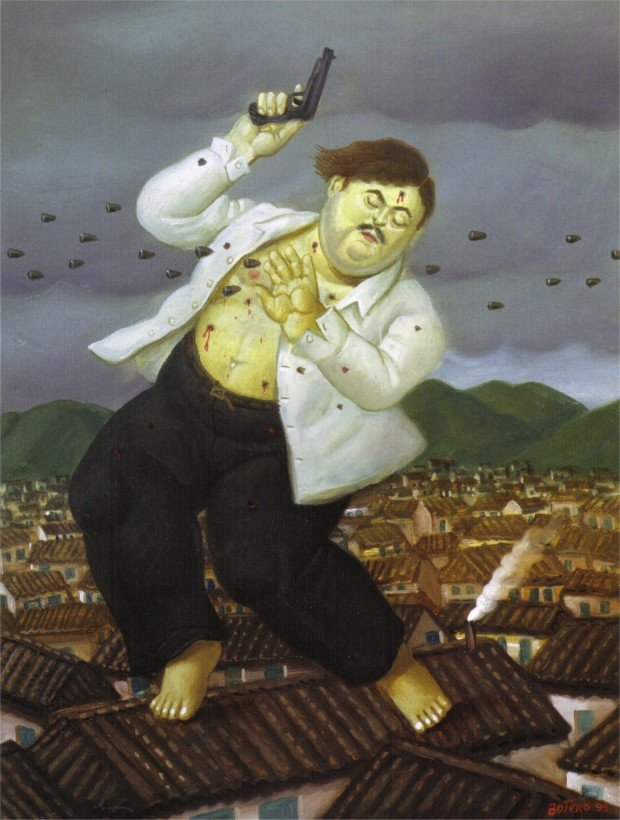 Fernando Botero, Death of Pablo Escobar