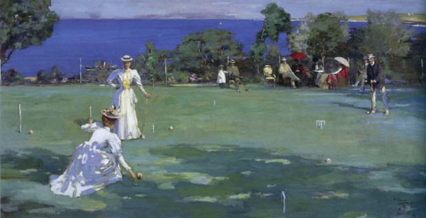 Sir John Lavery, The Croquet party, 1890, Private collcetion