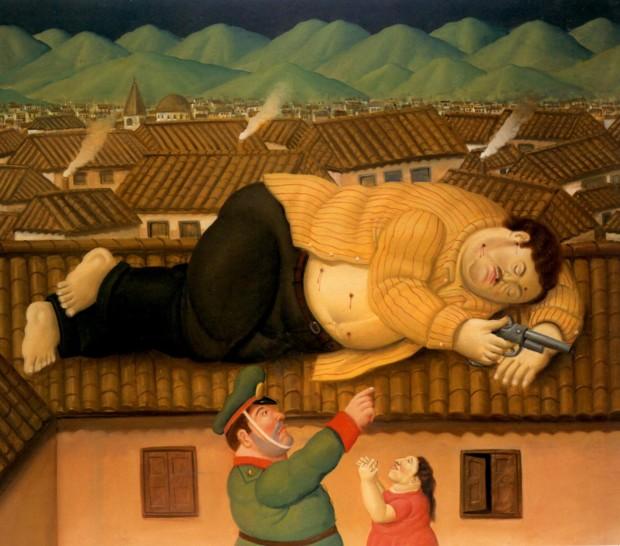 Fernando Botero, Pablo Escobar Dead, 2006, Museo De Antioquia
