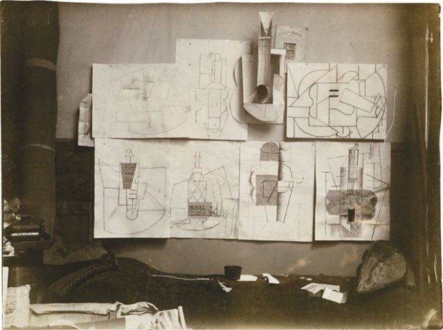 Installation in the artist's studio at 242, boulevard Raspail Paris, December 9, 1912, or later, Private Collection