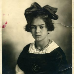 Frida Kahlo at age 12 in 1919