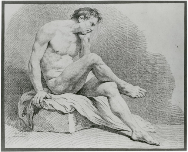 Louis Lagrenée, Seated Male Nude, n.d., The Met