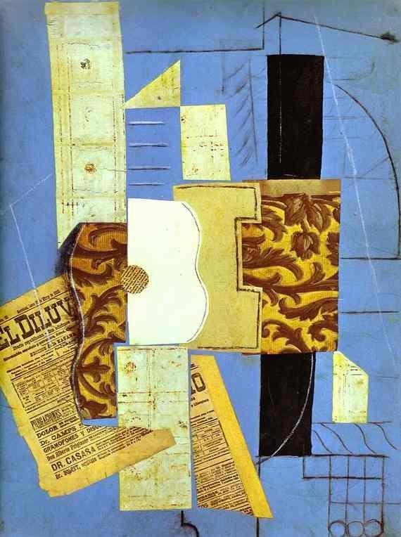 Pablo Picasso, The guitar (El diluvio), Spring 1912, MoMA